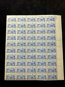 Us Scott 789 1937 5 Cents Army West Point Mint Sheet Of 50d
