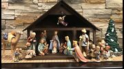 Goebel Hummel Nativity 18-piece Set 214 Plus Crandegraveche And Lighted Dept 56 Tree