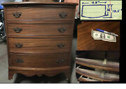 Mahagony Compact Dresser Solid Wood Vintage 31 X 28 X 19 Inches 4 Drawers