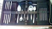 8 Towle Sterling Silver Flutes 1941 6 Pc Place Settings + Serving Pc Total 61