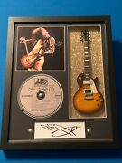 Jimmy Page Led Zeppelin 11 X 14 V3 Guitar Shadow Box Tribute V1