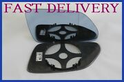Fits Vw Polo Mk4 Facelift 2005-09 Door Mirror Glass Blue Tinted Heated Driver Uk
