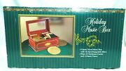 Vintage Mr. Christmas Wooden Holiday Music Box - 16 Interchangeable Discs New
