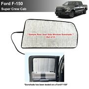 Side Window Back Row Sunshade For 2015-2020 Ford F150 Supercrew Crewcab 4dr-2pcs