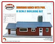 Suburban Ranch House With Swimming Pool Kit 'n' Scale Model Power New 1588