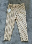 Invite Stamp Silk Logo Print Trousers Pants Size It 46 Uk 30 Andpoundrrp 1.350