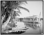 1904 Photo Of House Boating On The Miami River Florida Q