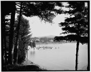 1905 Photo Of Boat Landing At Fort William Henry Hotel Lake George N Y O