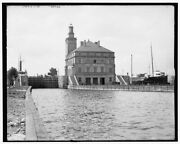 1900 Photo Of Sault Ste Marie Mich The Locks And Power House N