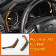 Wood Grain Abs Dashboard Instrument Side Strip Trim Fit For Ford F150 2015-2020