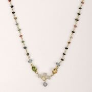 Garnet And Amethyst Jewelry With Peridot And Blue Topaz Necklace Multi Tourmalin