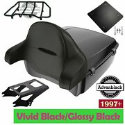 Advan Vivid Black King Tour Pack With Black Latch For 1997+ Harley Touring