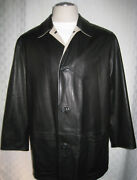 Italy Soft Black Leather 2 In 1 Jacket Men Size 54/xl Hot Rare