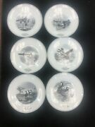 Set Of 6 Federal Duck Stamp Limoges French Plates
