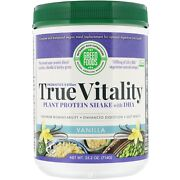 Green Foods Corp True Vitality Plant Protein Shake With Dha-vanilla 25.2oz
