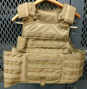 Msa Paraclete Armor Plate Carrier Molle Coyote Brown Small R20d