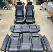 2008 Audi Rs4 Quattro B7 Complete Black Leather Front And Rear Seat Set Oem 1804