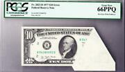 10 Error Note Frn Pcgs Gem New 66 Ppq Pre Face Print Foldover And Cutting