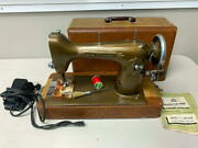 Vintage Light Running Sewing Machine By New Home W/accessories And User Manual