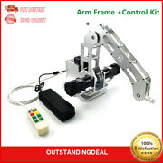 4 Axis Robot Mechanical Arm W/ Geared Motors Closed Loop Arm Frame +control Kit