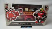 Collectible Mandmand039s Five Alarm Red Fire Engine Candy Dispenser Limited Edition New