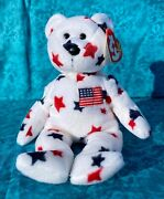 Ty Glory Beanie Baby Bear, Rare Retired, Mint Condition, Errors And Canada Tag