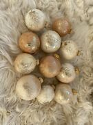 Vintage Golden Pinecone Glass Christmas Ornament Lot Of 11 West Germany