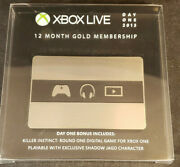 Day One 2013 Limited Edition Metal Card Xbox Live 12 Month Gold Membership New