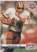 Free Shipping-1992 Pro Set Football Hall Of Fame Inductees John Riggins Sc4