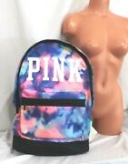 Victorias Secret Pink Graphic Tie Dye Large Full Size Backpack Bag Carrie On Nwt