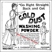 Vintage Advertisement For Gold Dust Washing Powder 1 - Poster In 4 Sizes