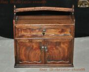 Old Chinese Huanghuali Wood Hand-carved Lunch Box Jewelry Boxs Food Containers