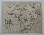 Essex And Suffolk Part Antique Map By Michael Drayton, 1622