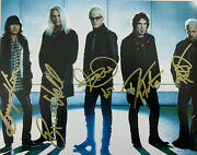 Reo Speedwagon Hand Signed 8x10 Photo Full Band Autographed Rare Authentic