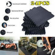 96 Sqft Puzzle Floor Mat Exercise Gym Flooring Home Fitness Workout Mats