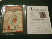 Honus Wagner And Others Signed Program Bas Loa 1943 Pirates Dodgers Auto Beckett