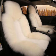 Wool Front Seat Comfortable Cushion Pad Warm Protector For Car Seat White