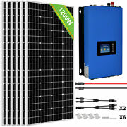 Eco 1000w 1200w 1600w 2000whigh Efficiency Grid Tie Solar Panel Kit For Home Us