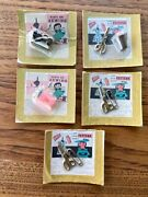 Lot Of 5 Vintage Holly House Novelty Charms Nos Sewing Machine Thimble Scissors