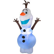 Christmas 9.5and039 Tall Airblown Inflatable Disneyand039s Frozen Olaf Led Lights Gemmy