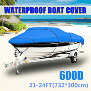 21-24ft 600d Extra Heavy Duty Waterproof Boat Speedboat V-hull Cover Protector