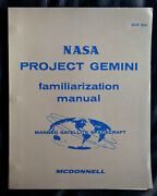 1963 Mcdonnell Nasa Gemini Manual For Spacecraft 1 - Signed By Rodney Rose