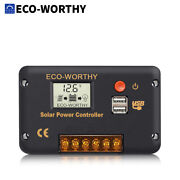 Eco 20a/30a/60a Usb 12v/24v Lcd Solar Panel Battery Regulator Charge Controller