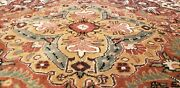Stunning 1930-1940s Antique Wool Pilenatural Dye Legendary Hereke Rug 6and0396andtimes9and0397