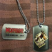 Marvel Comics Wolverine Dog Tags Chain 21 New