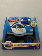 Plush Squeezable Rc Racer Police Truck Soft Body Tires Power Remote Control