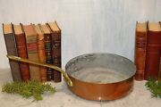 Antique French Copper E. Dehillerin Large Sauce Pot Pan Stamped 9 3/4