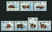 Cambodia Wagon Stamp Horse Carriage Stagecoach Transportation Serie Set Of 7 Mnh