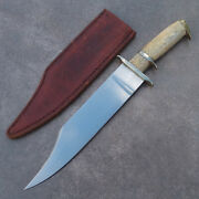 Pat Crawford Custom Handmade Fixed Blade Bowie Knife Marked 1