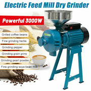Electric Grinder Mill Grain Corn 3000w Wheat Feed/flour Wet Anddry Cereal Machine
